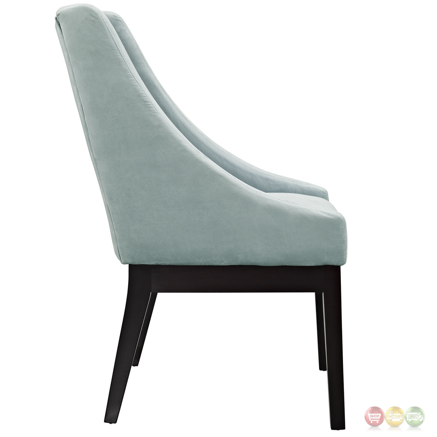 Light Blue Dining Chairs Tide Modern Suede Like Upholstered Dining Side Chair W