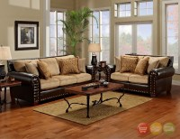 Tinga Marino Traditional Brown/Tan Living Room Set