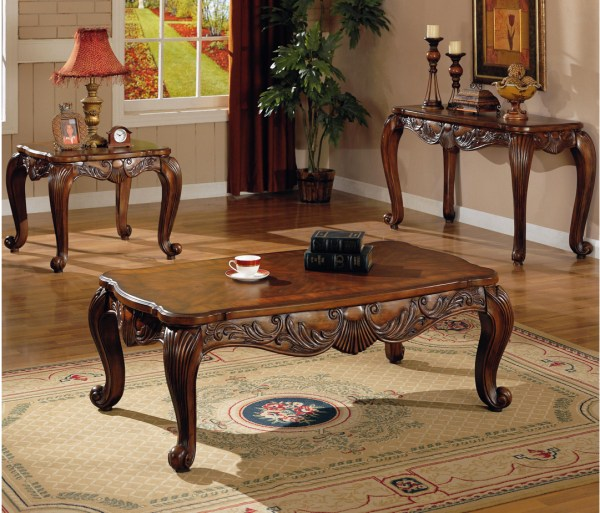 Traditional Living Room Table Sets