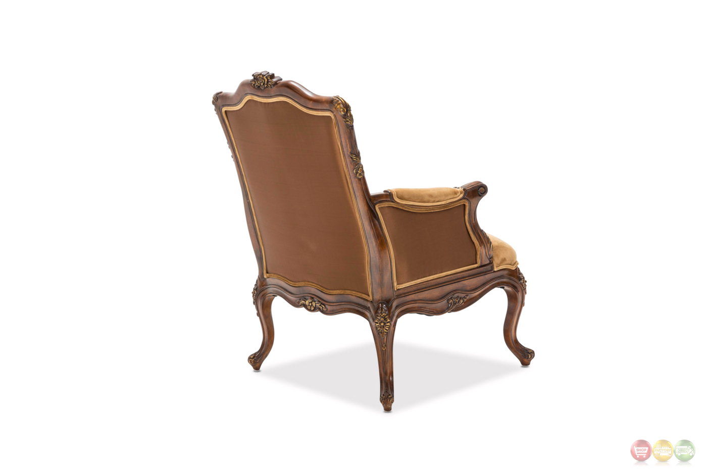 wood frame accent chairs butterfly chair cover sienna victorial in butterscotch with carved