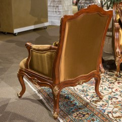 Wood Frame Accent Chairs Folding Tent Chair Sienna Victorial In Butterscotch With Carved