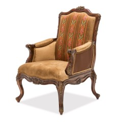 Wood Frame Accent Chairs Vintage Chair Sienna Victorial In Butterscotch With Carved