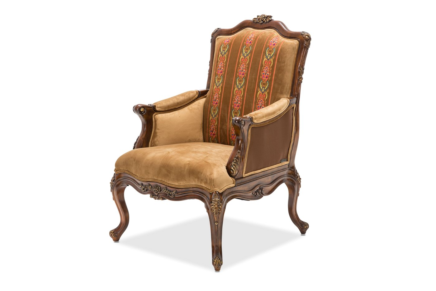 Wood Accent Chair Sienna Victorial Accent Chair In Butterscotch With Carved