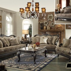 Traditional Sofa Sets Living Room Eggplant Leather European Design Formal Luxury