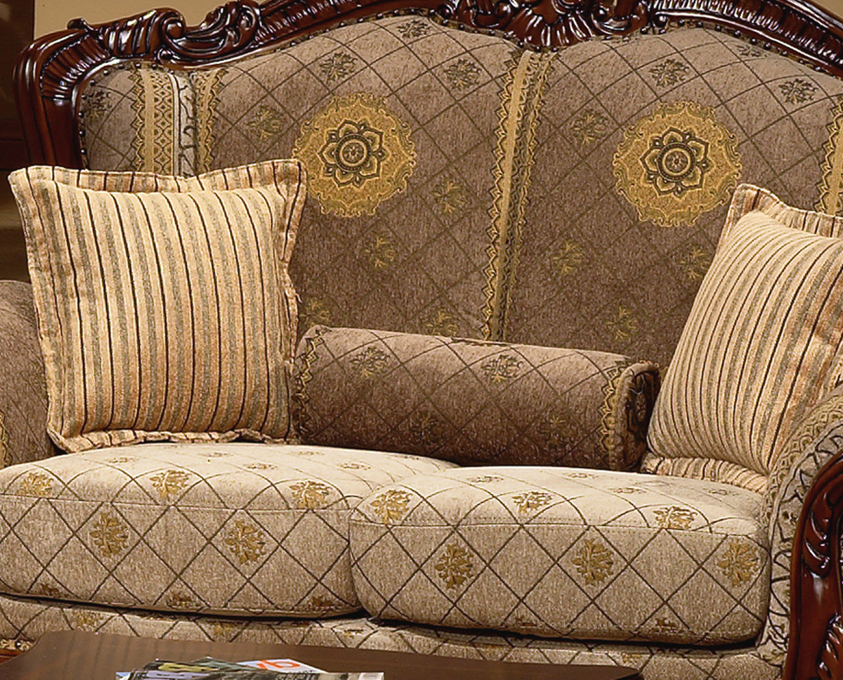 sofa set photos hd cambridge by broyhill european design formal living room w carved wood 94