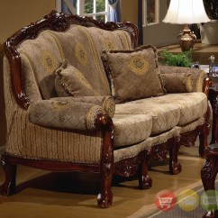 Sofa Set Photos Hd Chenille Fabric Care European Design Formal Living Room W Carved Wood 94