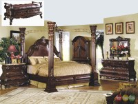 Traditional Canopy Bed | Marble Bedroom Set | Shop Factory ...