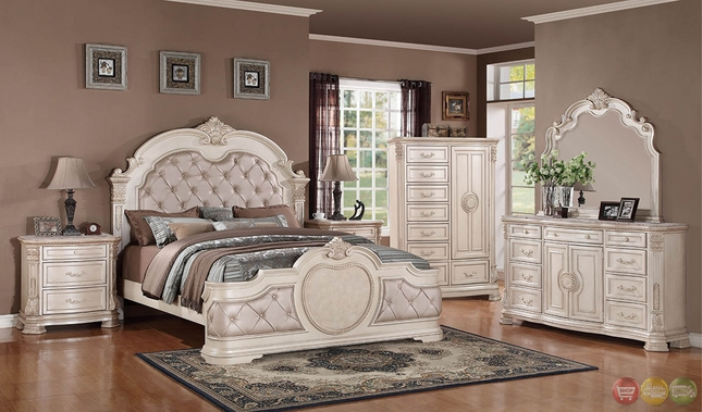Unity Antique Traditional Distressed Antique White
