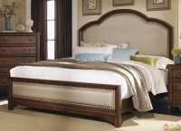 Upholstered Headboard Laughton Rustic Bedroom Set
