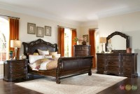 Valencia Traditional Genuine Leather Upholstered Sleigh ...