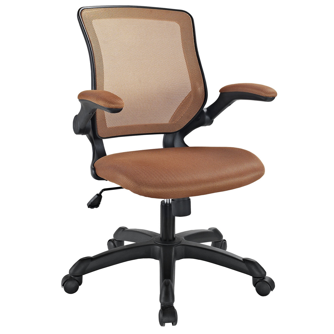 Tan Office Chair Veer Contemporary Ergonomic Mesh Multi Function Office