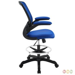 Desk Chair Blue Rolling Chairs On Laminate Flooring Veer Modern Ergonomic Mesh Back Upholstered Office