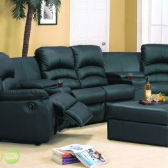 Home Theater Leather Sofa Vintage Orange Velvet Ventura Black Sectional Reclining Seating