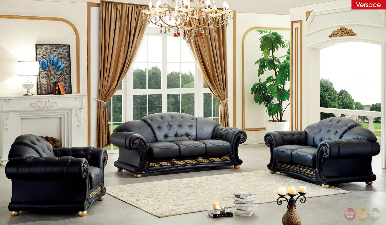 Black Living Room Chair Versace Living Room Set Black Leather Living Room Set