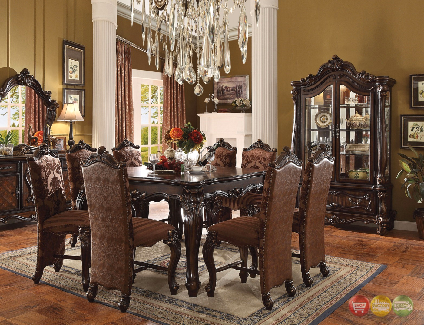 Versailles Formal Cherry Oak 56 Square Counter Height