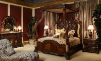 Michael Amini Victoria Palace Bedroom Set w/ Canopy Bed in ...