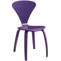 Vortex Contemporary Molded Wood Panel Dining Side Chair ...