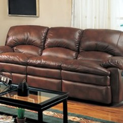 Living Room With Brown Leather Sofa Hide A Bed Dimensions Set