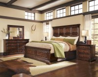Whiskey Oak Rustic Inspired Wooden Panel Bedroom Set 205000
