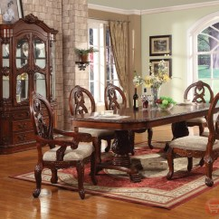 Cherry Wood Table And Chairs Small Beach Uk Windham Formal Dining Set Carved