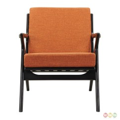 Modern Orange Chair Covers For Functions Zain Mid Century Fabric With Wooden