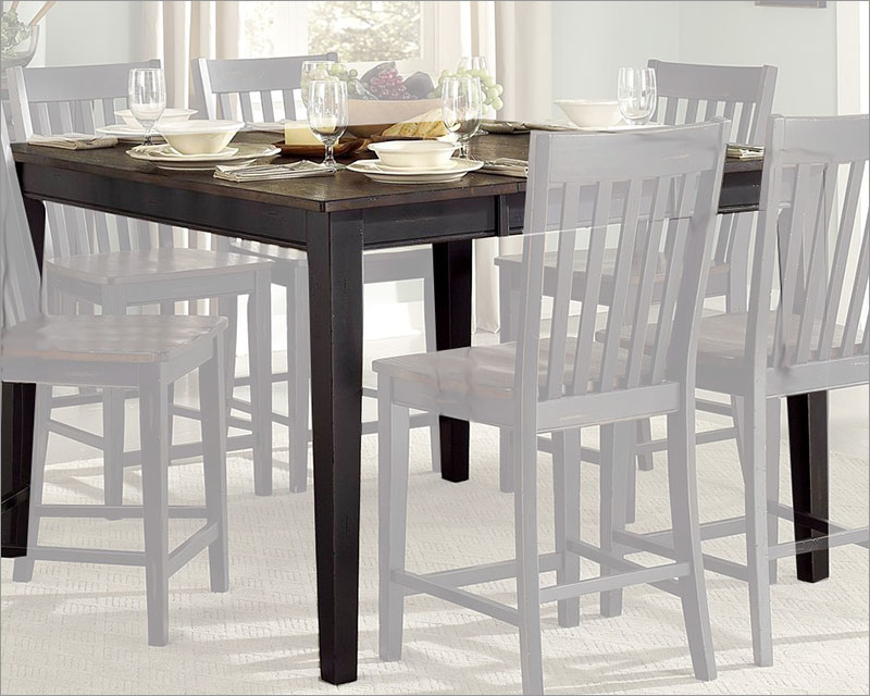 54in Square Counter Height Table Three Falls By