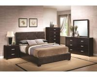 Coaster Bedroom Set w/ Vinyl Padded Headboard Andreas CO ...