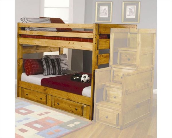 Coaster Full Bunk Bed With Under Dresser Wrangle Hill