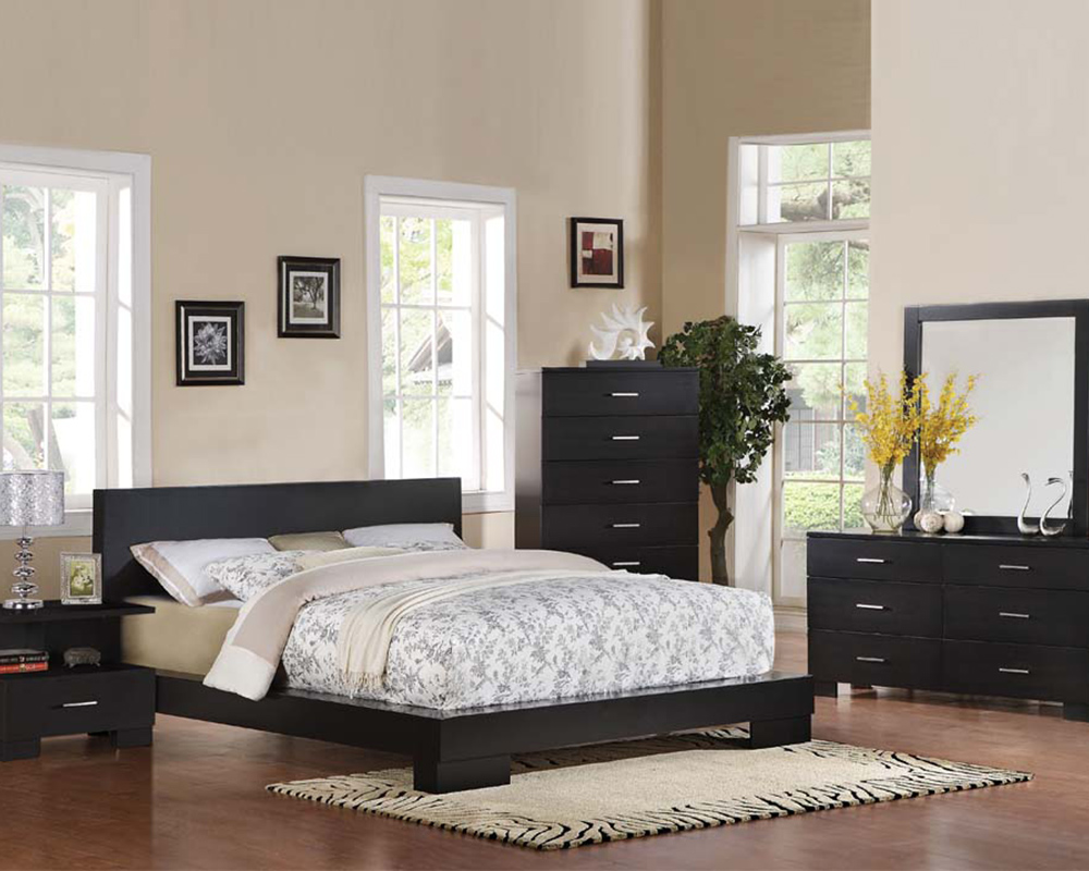Contemporary Bedroom Set London Black by Acme Furniture