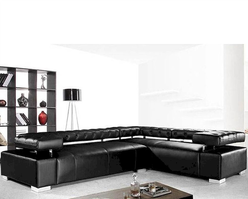 sofa mart leather chairs paint colours to go with grey contemporary black sectional set 44l0597
