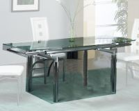 Extension Dining Table w/Glass Top OL-T307