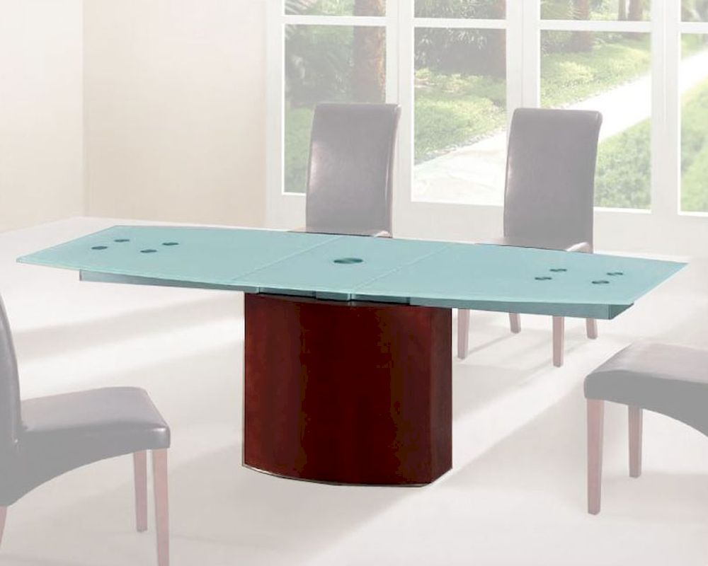 Frosted Glass Top Dining Table European Design 33D362