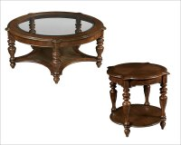 Hekman Coffee Table Set Vintage European HE
