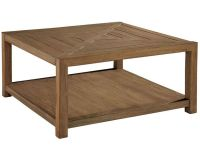 Hekman Square Coffee Table w/Casters Weathered Transitions ...
