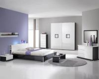 Modern High Gloss Finish Queen Bedroom Set Made in Italy ...