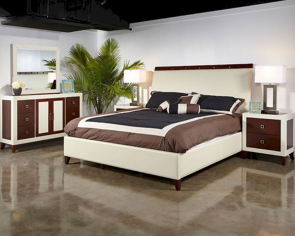 Najarian Furniture Contemporary Bedroom Set Zeno NAZEBSET