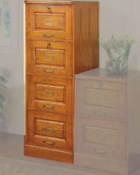 oak filing cabinets 4 drawer  Roselawnlutheran