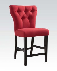 Red Linen Counter Height Chair Effie by Acme AC71525 (Set ...