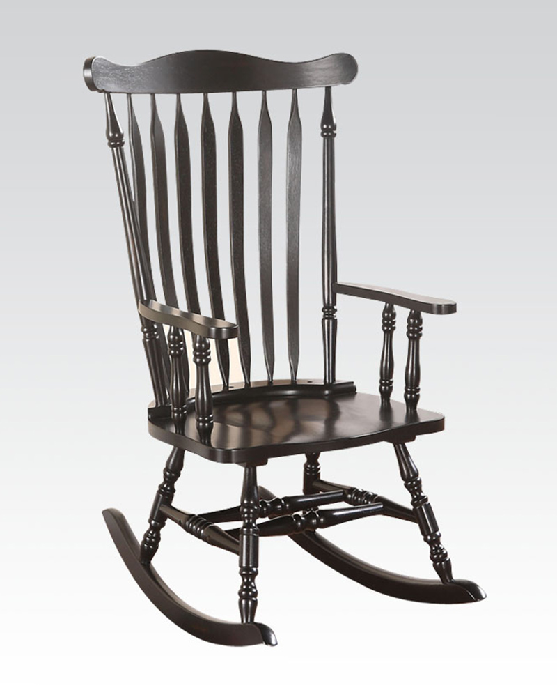 Rocking Chair in Black by Acme Furniture AC59211