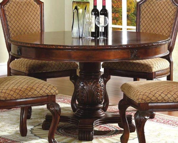 Cherry Round Pedestal Dining Table