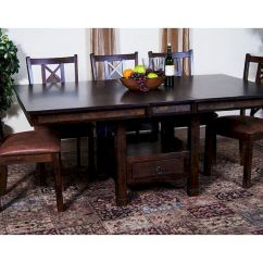 Kitchen Table Sets With Matching Bar Stools Signature Warehouse Sale Dining Set W/ Butterfly Santa Fe By Sunny Designs Su ...