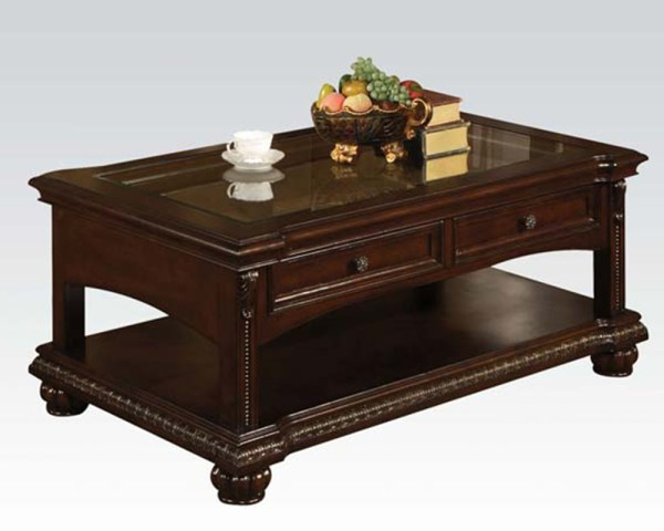 Traditional Coffee Table In Cherry Anondale Acme