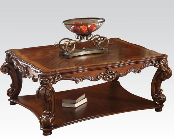 Traditional Square Coffee Table Vendome Cherry Acme Ac82002