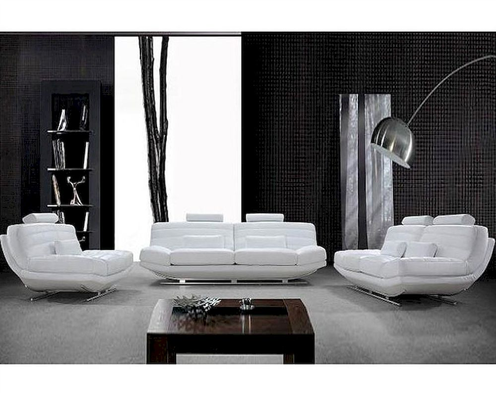futon sofas sectional or sofa and loveseat ultra modern design white leather set 44l0670