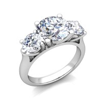 3 Stone Ring Setting in Platinum (without diamonds ...