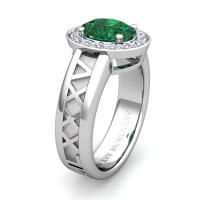Build My Love Roman Numeral Engagement Ring with Diamond ...