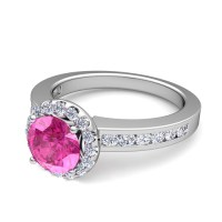 Build Your Own Engagement Ring with Gemstones in Channel ...