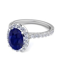 Create Your Own Engagement Ring with Gemstones in Pave ...