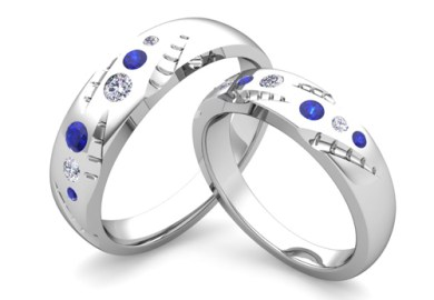 Unique Wedding Ring Sets For Him And Her