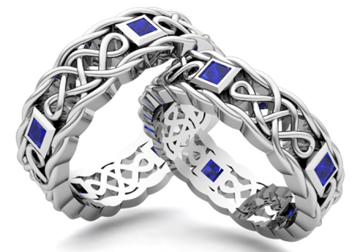Celtic Wedding Bands For Him And Her